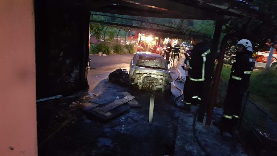 Požar auta Vrhovec Bednjanski
