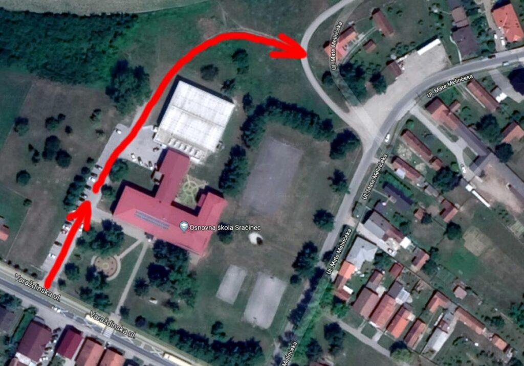 Osnovna škola Sračinec promet