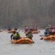 Zimski spust rijekom Dravom
