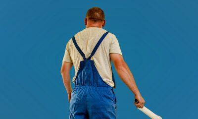 radnik bojenje fasada